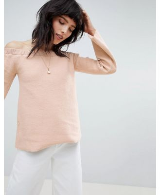 NYTT Alexa Off Shoulder Flared Sleeve Top - Pink