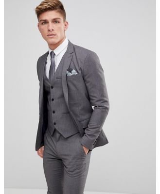 Only & Sons Skinny Suit Jacket - Grey