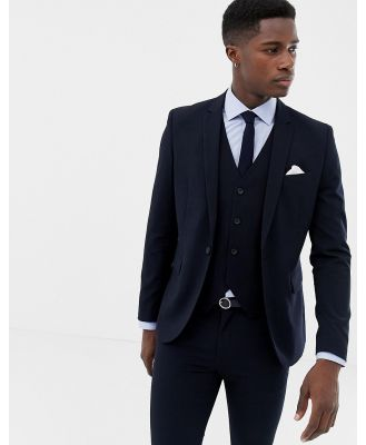 Only & Sons skinny suit jacket-Navy