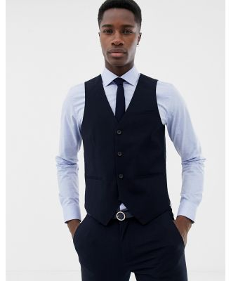 Only & Sons skinny waistcoat in navy