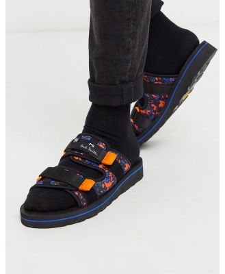 PS Paul Smith Micah printed sandals in black