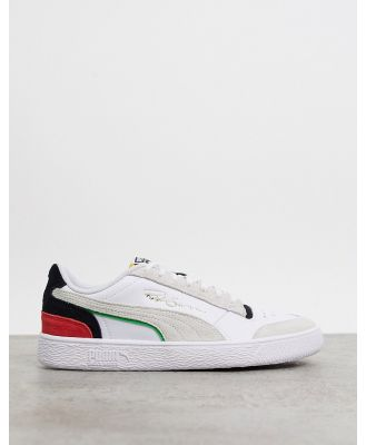 Puma Ralph Sampson Lo trainers in white and black