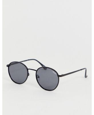Quay Australia Omen round polarised sunglasses in black