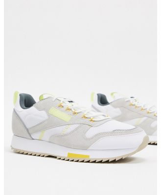 Reebok classic leather trail ripple sneakers in white