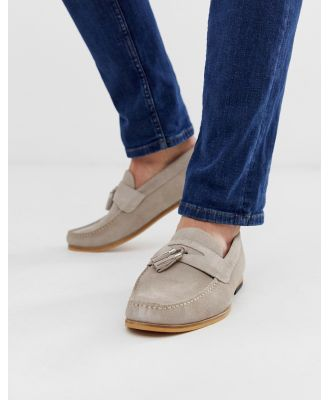 River Island loafer with tassel in grey
