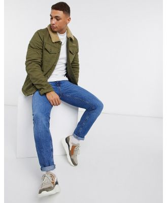 Schott cruiser padded jacket in khaki-Green
