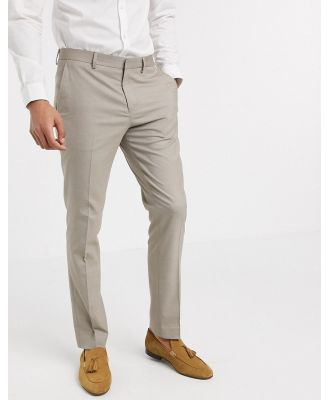 Selected Homme skinny fit stretch suit pants in sand-Grey