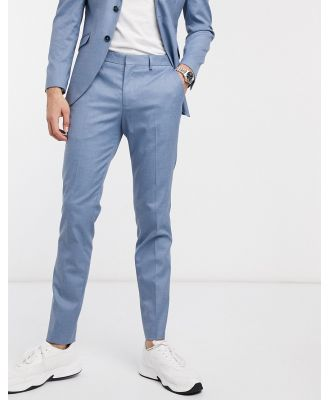 Selected Homme slim fit stretch suit pants in light blue