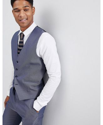Selected Homme Waistcoat In Textured Fabric-Navy