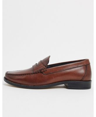 Silver Street penny leather loafers in brown