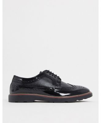 Silver Street Soho Brogues In Black Leather