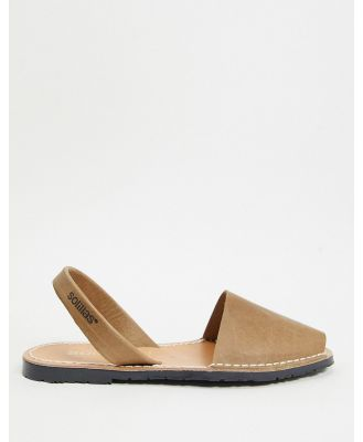 Solillas leather menorcan sandals in brown