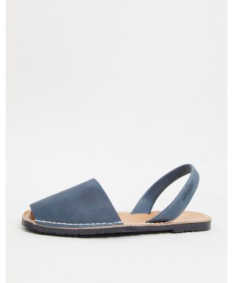 Solillas leather menorcan sandals in navy