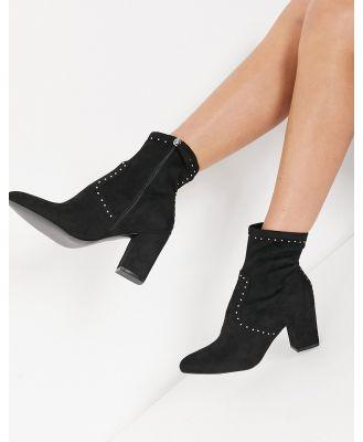 Steve Madden rollins heeled sock boots in black