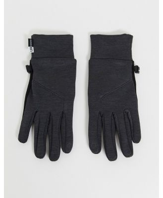 The North Face Etip gloves in grey