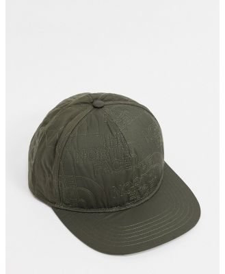 The North Face quilted cap in khaki-Green