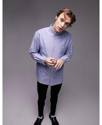 Topman oxford shirt in blue