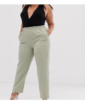 UNIQUE21 Hero Plus relaxed pants in pinstripe co-ord - Green