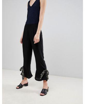 Vero Moda Tie Hem Pants - Black