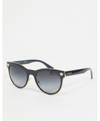 Versace 0VE2198 round sunglasses - Black