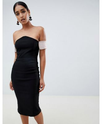 Vesper v bardot pencil dress - Black