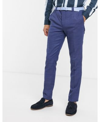 Viggo recycled polyester suit pants in navy texture