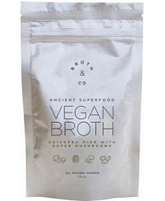 Broth & Co Vegan Broth Chickpea Miso w/Super Mushrooms Powder 100g