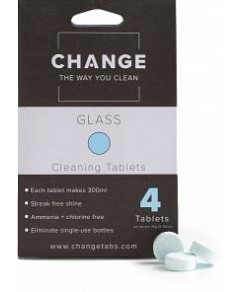 Change Glass Cleaning Tablets (4 Tablets Pouch)