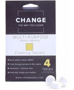 Change Multi-Purpose Cleaning Tablets (4 Tablets Pouch)