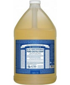 Dr Bronner's Pure Castile Liquid Soap Peppermint 3.78L