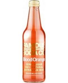 Famous Soda Co Sugar Free All Natural Blood Orange Soda 12x330ml