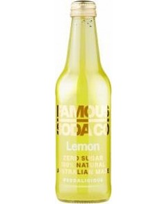 Famous Soda Co Sugar Free All Natural Lemon Soda 12x330ml