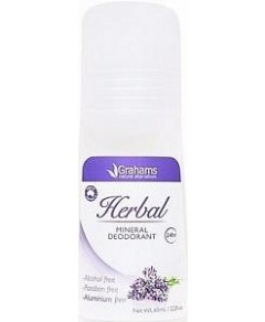 Grahams Herbal Mineral Deodorant Roll On 65ml