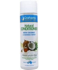 Grahams Natural Conditioner with Coconut & Manuka Honey 250ml