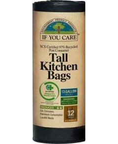 If You Care Tall Kitchen Bags 12Bags (13 Gallon)