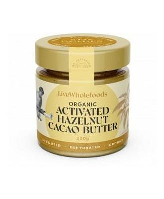 Live Wholefoods Organic Activated Hazelnut Cacao Butter G/F 200g