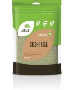 Lotus Organic Sushi Rice 500gm