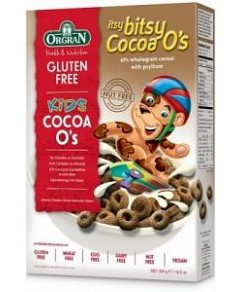 Orgran Kids Itsy Bitsy Cocoa O's Cereal G/F 300g