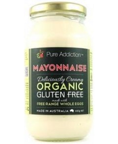 Ozganics Pure Addiction Organic Mayonnaise Gluten Free 440g