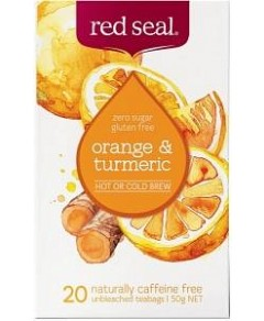 Red Seal (Hot & Cold Brew) Orange & Turmeric 20Teabags