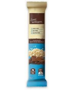 Sweet William Chocolate with Rice Crackle Bars G/F 24x50g
