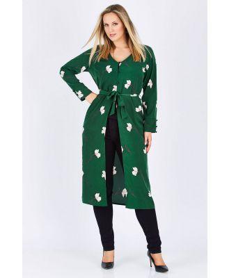 Belle Green Floral Jacket Dress
