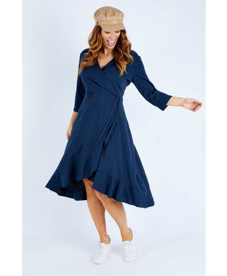 The 3/4 Sleeve Faux Wrap Dress