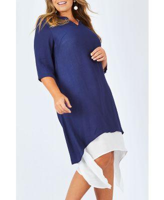 The Overlay Midi Dress