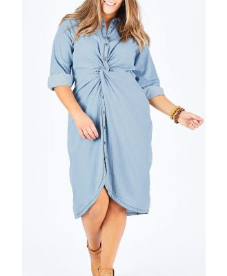 The Twist Front Shirt Dress