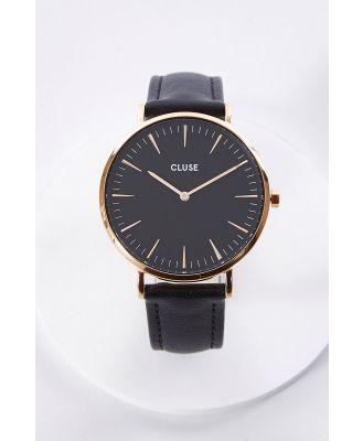 La Boheme Black Rose Gold Watch