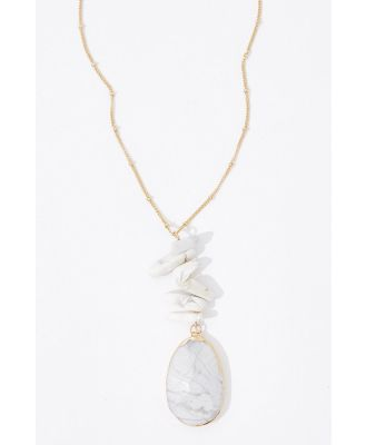 Katherine Long Natural Stone Necklace