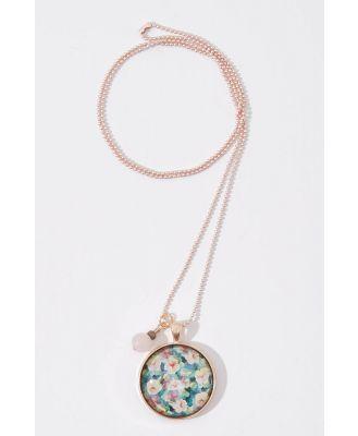 Secret Garden Pendant With Rose Quartz Necklace