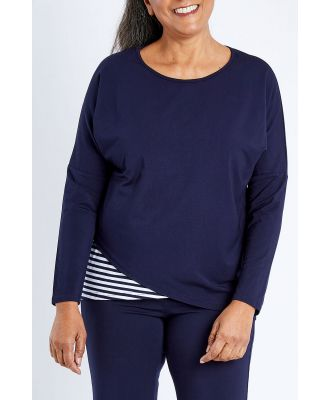 Whispers Long Sleeve Asymetrical Bamboo Top