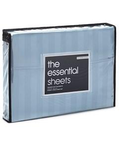 Bloomingdale's Essentials Organic Dobby Stripe Sheet Set, King - 100% Exclusive